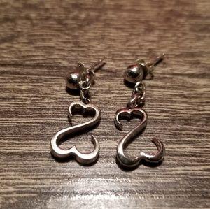 Kay Jewelers Open heart earrings sterling silver